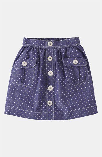 Mini Boden 'Spotty' Chambray Skirt (Little Girls & Big Girls) available at Nordstrom