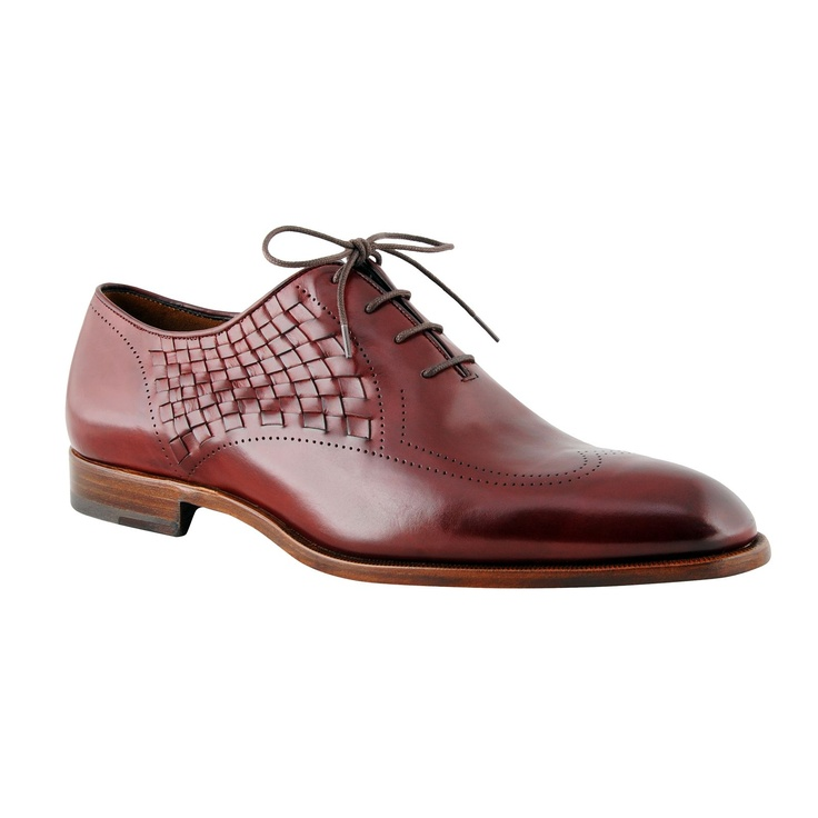 Fratelli Rossetti Classic Shoes    Richelieu art. 10835 in hand-antiqued ruby-colour calfskin, and a spinach-colour variant.