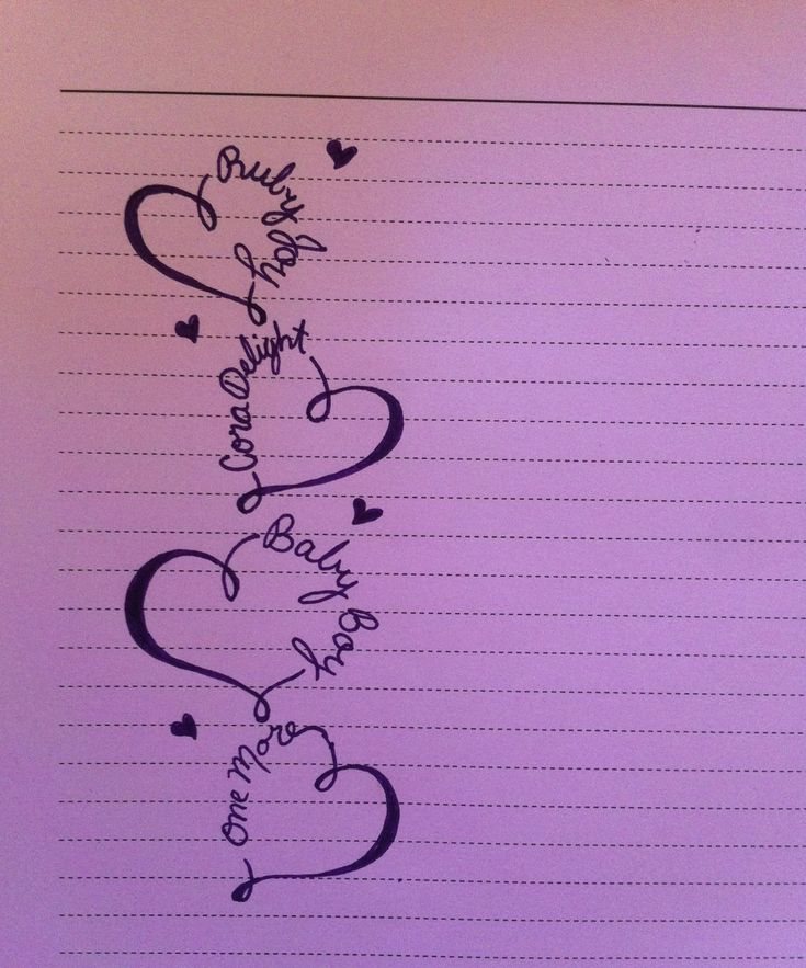 Tattoo idea! Maybe super petite with white ink. Each of my children's names.