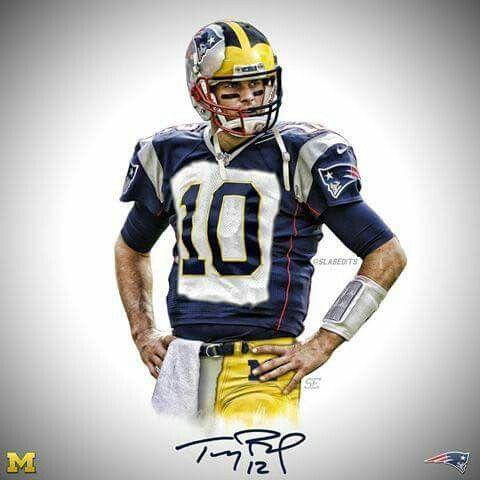 Tom Brady - Michigan/Patriots | Michigan sports, Tom brady ...
