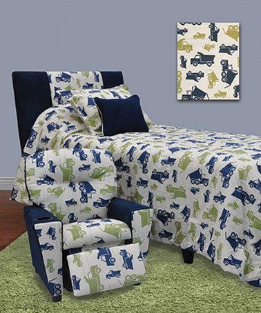 Loving This Blue Amp Green Trucks Bedroom Set On Zulily