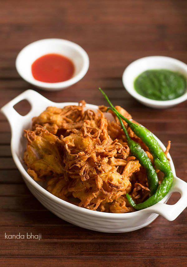 kanda bhaji recipe with step by step photos. kanda bhaji are fried onion fritters. these crisp fritters are prepared mainly with onion and gram flour/besan. kanda bhaji is a popular street food snack in maharashtra. there