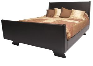 ASBOTES-ANUSHKA BED. The Anushka Bed has an elegant look with its distinct hidden legs. It is a well designed be and unique in it's style. This bed is based on a sleigh design with more upright headboard and foot end. It has rounded edges on headboard en foot end. The height of the Anushka Bed enables easy cleaning under the bed. www.asbotes.com 021 591 0737