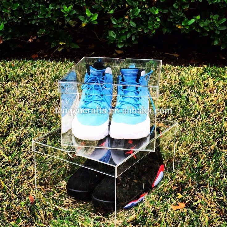 square 100% clear plexiglass sneaker display case for adidas acrylic drop front shoe box plastic clear