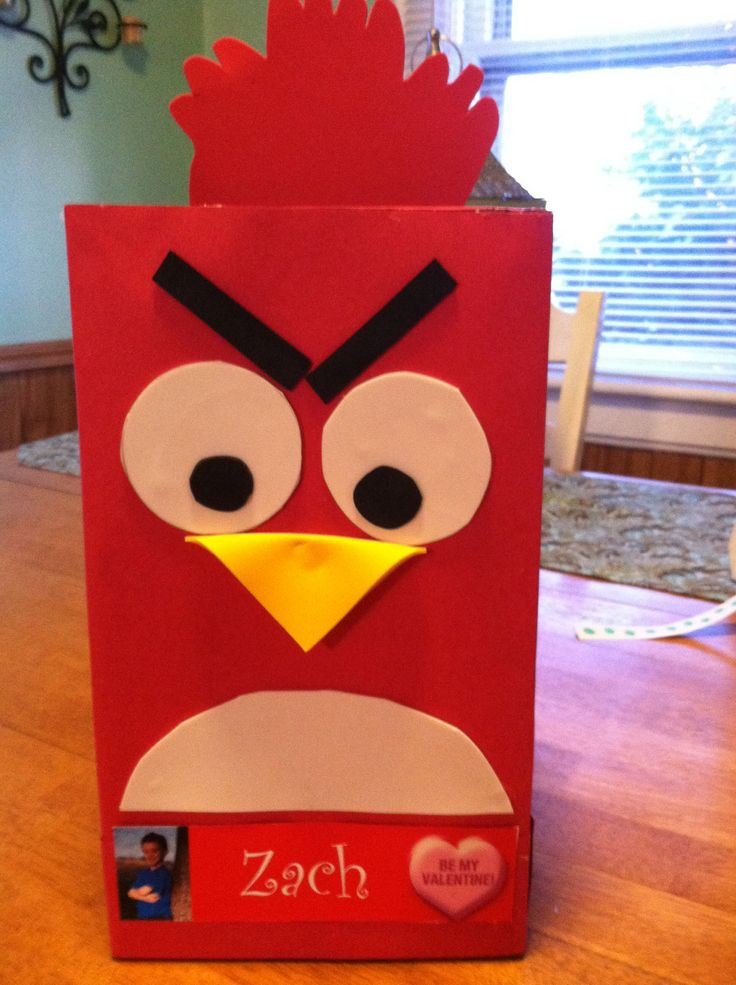 Angry bird | Valentine school mail boxes, | Pinterest ...