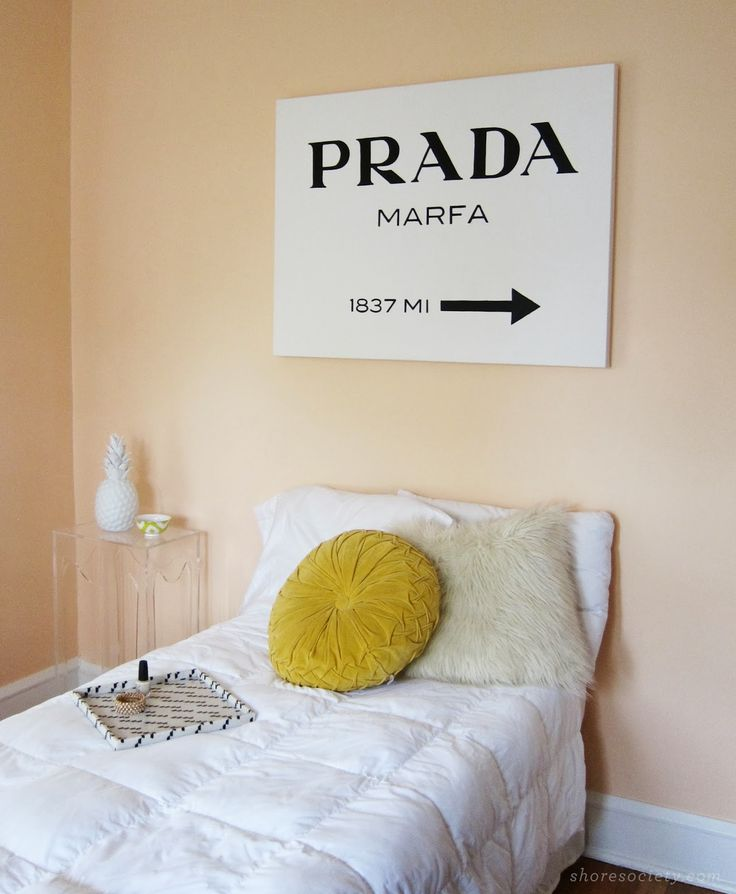 diy prada marfa sign canvases wall colors and family rooms. Black Bedroom Furniture Sets. Home Design Ideas