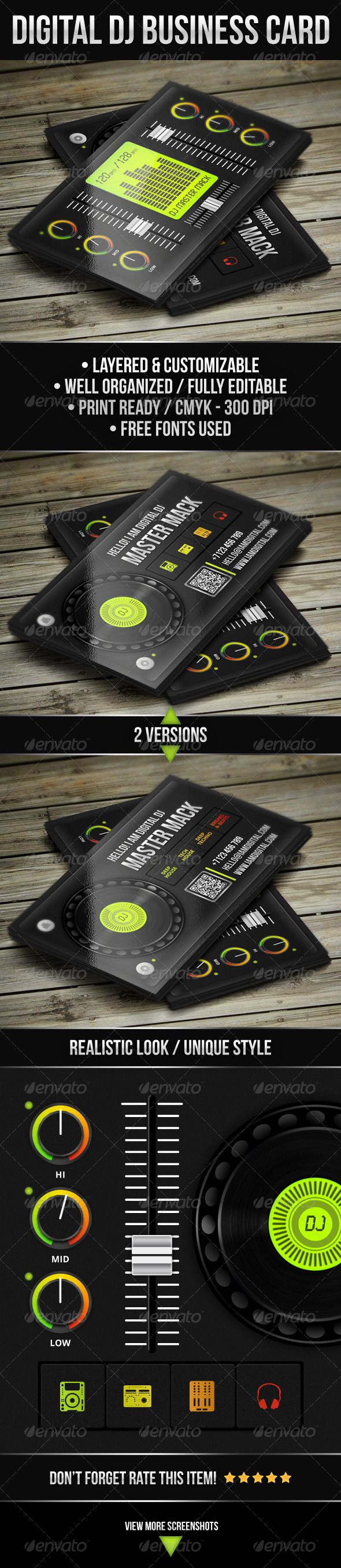 Digital DJ Business Card #djcard #djbusinesscard #businesscard #digital #dj