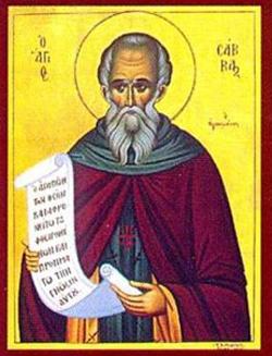 Saint Sabas pray for us.  Feast day December 5.