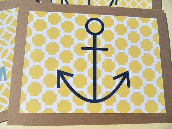 Nautical Thank You Cards   Baby Shower Thank You by suziescards