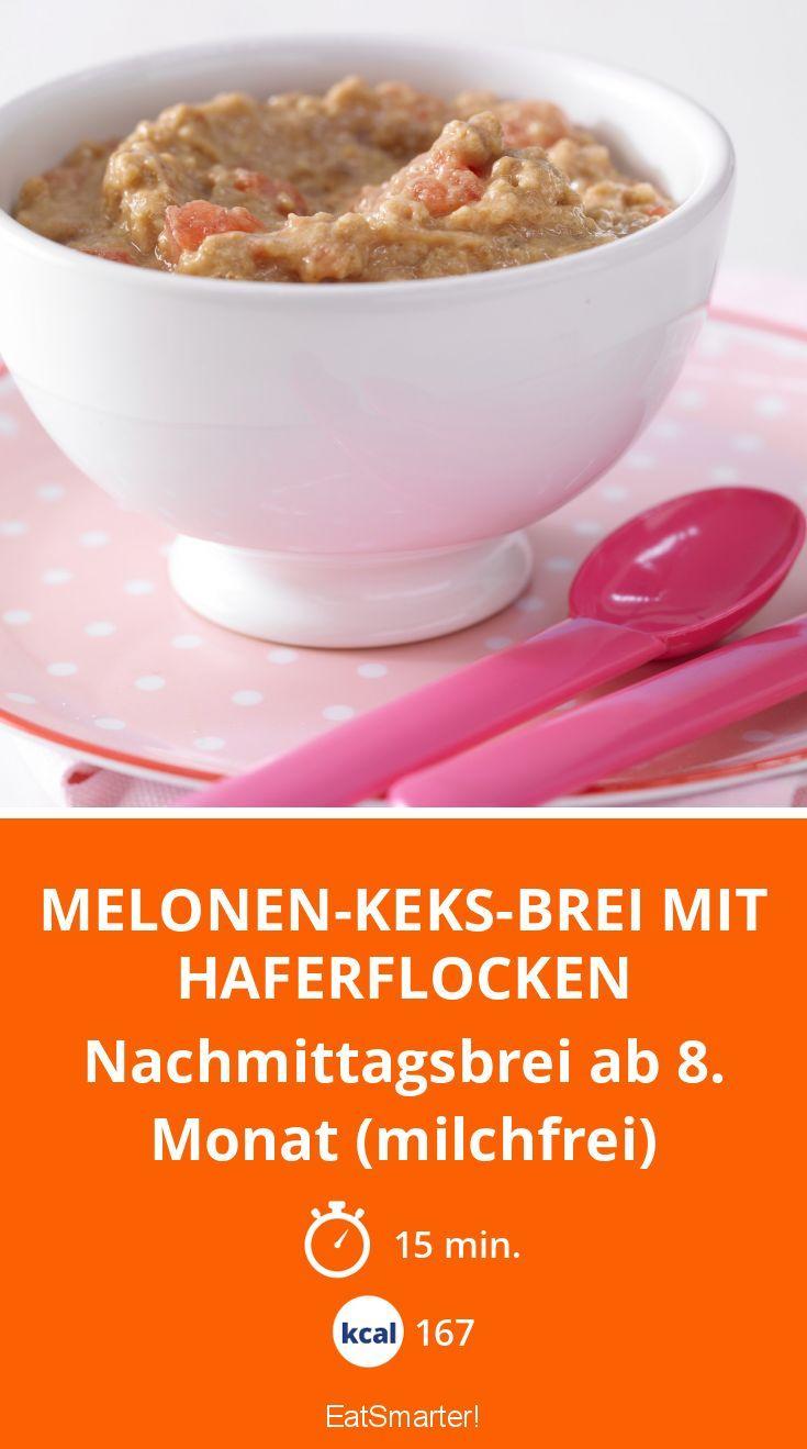 Melonen-Keks-Brei mit Haferflocken - Nachmittagsbrei ab 8. Monat (milchfrei) - smarter - Kalorien: 167 Kcal - Zeit: 15 Min. | eatsmarter.de