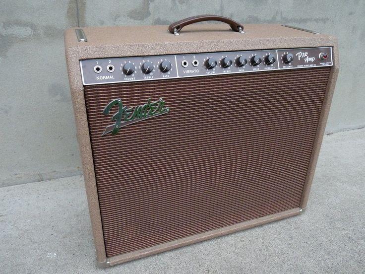 1960 Fender Pro Amp Pink Brown Tolex Brownface 5G5