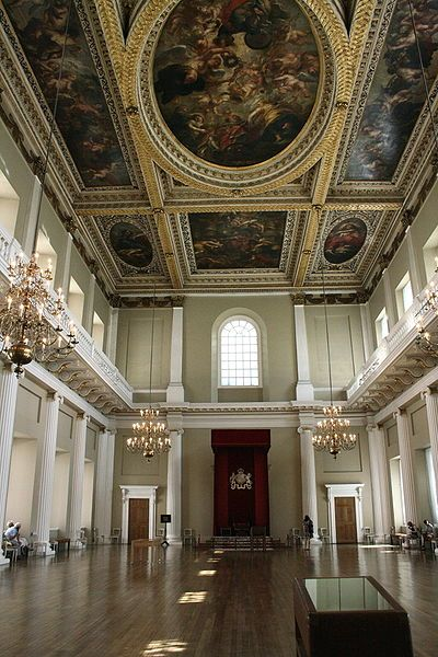 Banqueting House, Whitehall, London - The last building Charles I walked through before being beheaded in front of it.