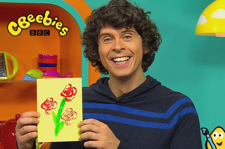 Mother's Day card make with CBeebies Andy.