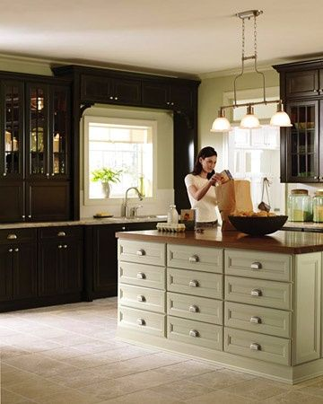 Pinterest for Black kitchen cabinets home depot