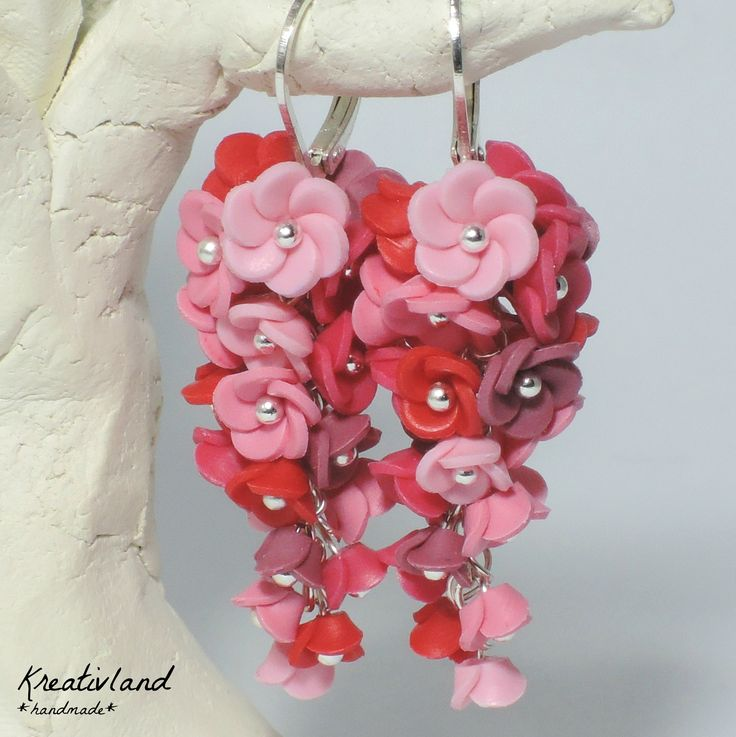 Roses blues - handcrafted from polymer clay (own design)