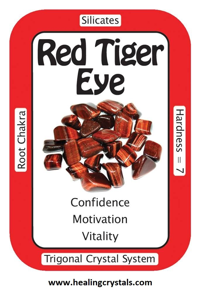 Use Tumbled Red Tiger Eye when working with the Root Chakra. Red Tiger Eye is a stimulating stone and can support motivation and a more active sex drive. Some use Red Tiger Eye to ground sexual ideas into the physical world, or to resolve sexual issues that are causing problems in a relationship. While all forms of Tiger Eye help to raise vibrations, they also connect these energies to the lower Chakras in balance, which keeps one from feeling disconnected when working with higher goals.