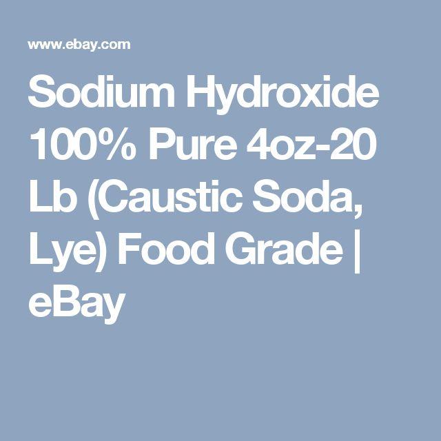 Sodium Hydroxide 100% Pure 4oz-20 Lb (Caustic Soda, Lye) Food Grade | eBay