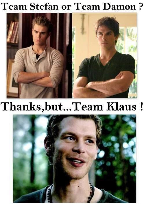This is me lol. That's why I like The originals better because he's the main character. Not enough of him in vampire diaries