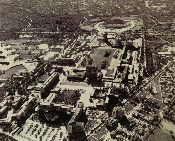 Ciudad uuiversitaria en los 50's