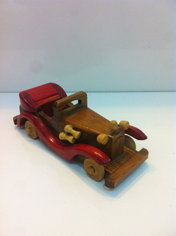Decorative Wooden Car  Handmade Vintage Classics  by MrGeppettoys