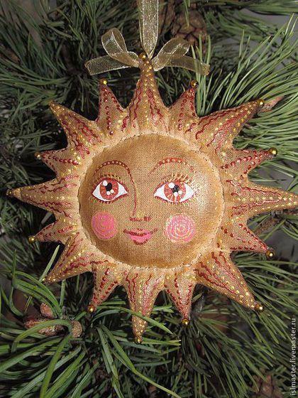 Солнышко - коричневый,кофейная игрушка,ароматизированная игрушка,чердачная игрушка