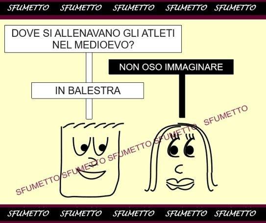 Atleti di  un tempo Indovinelli stupidi su Sfumetto.net  #battute #freddure #sport #umorismo #indovinelli