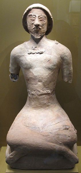Statue of a man-ossuary from Koi Krylgan Kala, first centuries A.D., Hermitage Museum