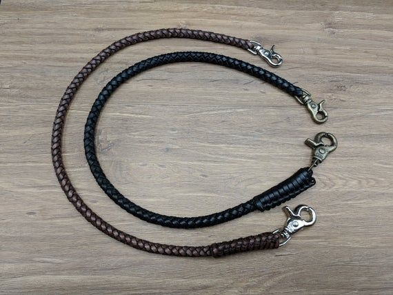 Special 2 Braided Chain Wallet Brown Vintage Genuine Cowhide Leather Wallet Chai…   – Products