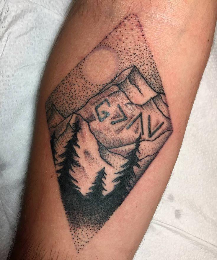 125 Best Mountain Tattoos! Lets Climb High