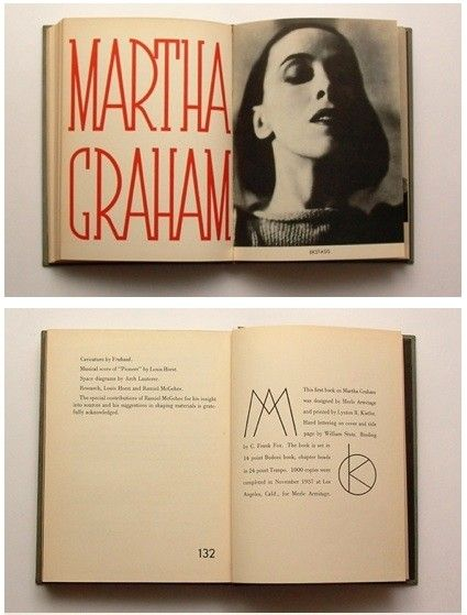 ,: Design Inspiration, Merle Armitage, Books Design, Graphics Design, Logos Types, Modern Dance, Editorial Design, Beautiful Books, Martha Graham