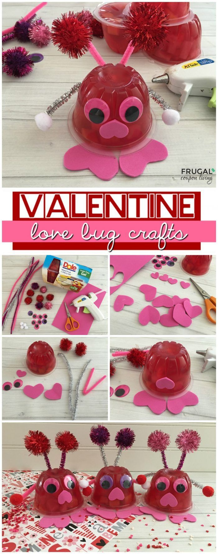 Valentine Love Bug Fruit Cups, a Kid's Food Craft on Frugal Coupon Living. Great...