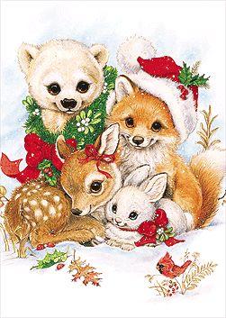 Christmas animals graphics