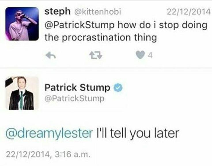 PATRICK || Patrick Stump tweets