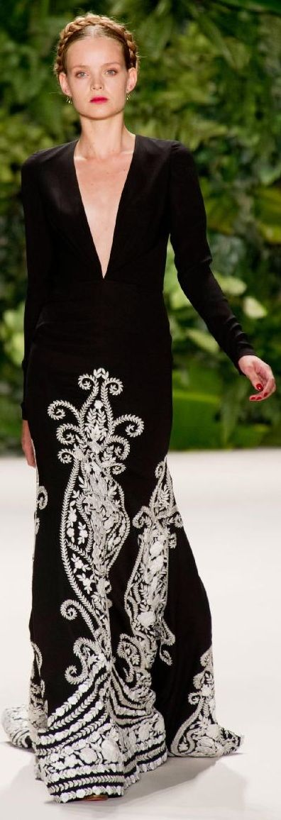 I see this as a pretty hostess outfit. Elegant and comfy!  TG, Naeem Khan Spring 2014