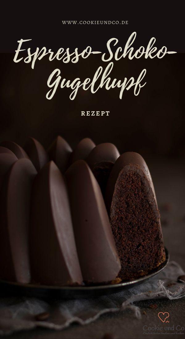 Rezept für einen unwiderstehlich leckeren Espresso und Schokoladengugelhupf. Der Kuchen…