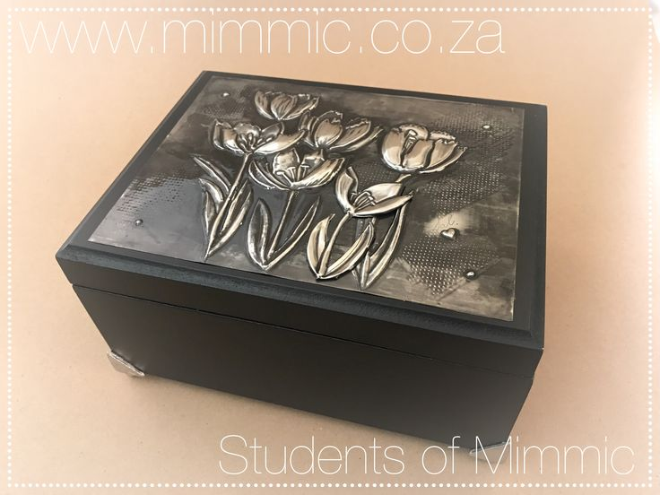 Jewelry box by Sally from our Wednesday class. www.mimmic.co.za