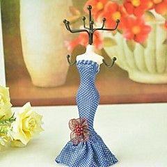 prateleira classicismo vestido de princesa modelo de exibição de jóias artística (cor aleatória)