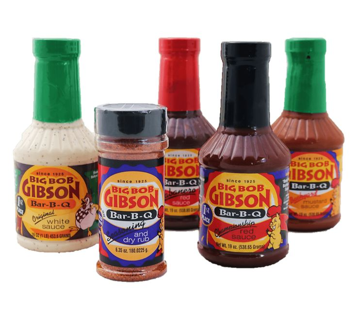 Big Bob Gibson Bar-B-Q Sauce & Rub Variety Set