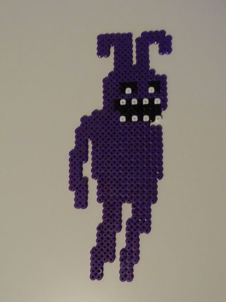 Shadow Bonnie with Perler Beads by soniccreed