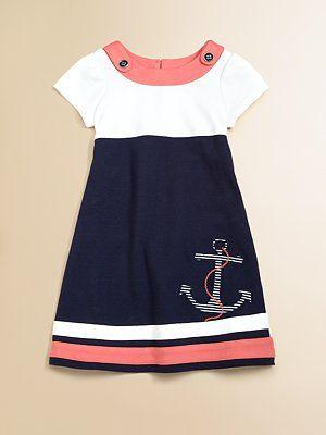 Hartstrings Little Girl's Sailor Dress....So cute! @Jade Alvarez Pilcher Adilyn needs a dress like this when she gets older!! She can be daddy's little sailor girl! <3