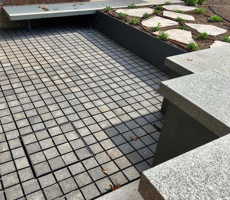 Hawthorn job #textures coming together. #granite #pavers #bluestone #cobblestone #paving #landscaping #landscape #construction