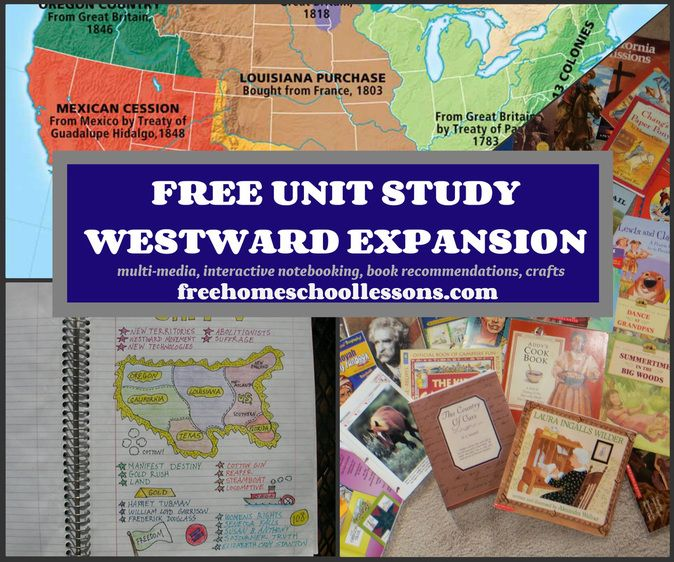free unit study on westward expansion