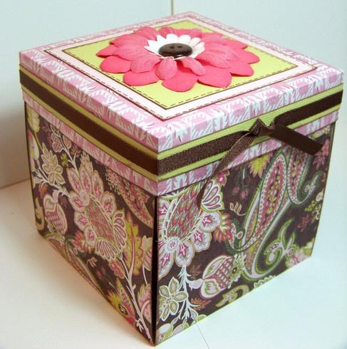 Beautiful exploding box ♥ tutorial