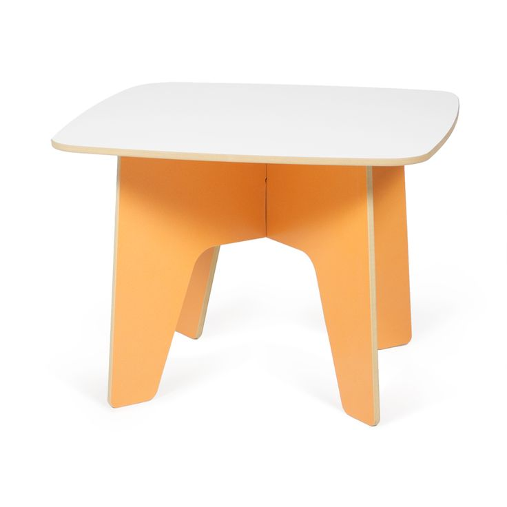 Great orange table for kid's crafts! Perfect size for kids, and sturdy enough for parents to join in the fun! Sprout's modern kids table is a fun addition to any kid's playroom or bedroom!