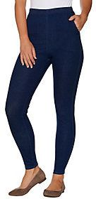 Denim & Co. As Is Regular Pull-on Stretch Denim Legging