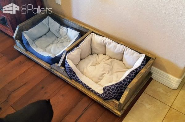Diy Video Tutorial Pallet Two Dog Bed