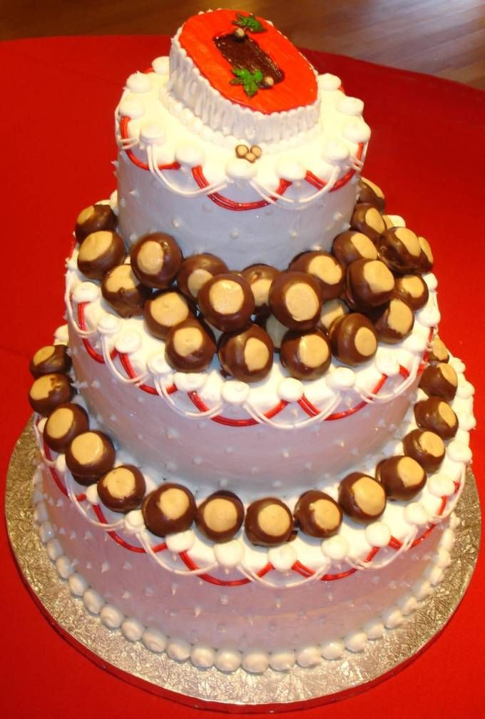 OHIO STATE BUCKEYES CAKE: Ohio States Buckeyes, Osu Buckeyes, Graduation Cakes, Ohio State Buckeyes, Cakes Ideas, Cake Ideas, U.S. States, Buckeyes Cakes, Grooms Cakes