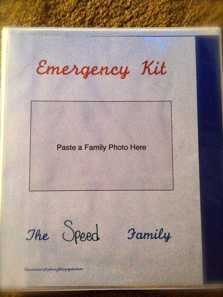 Showcasing Sydney: Family Emergency Binder Kit