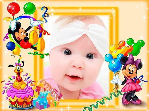 Marcos para fotos de cumplea os fotomontajes para ni os - Cumpleanos de bebes ...