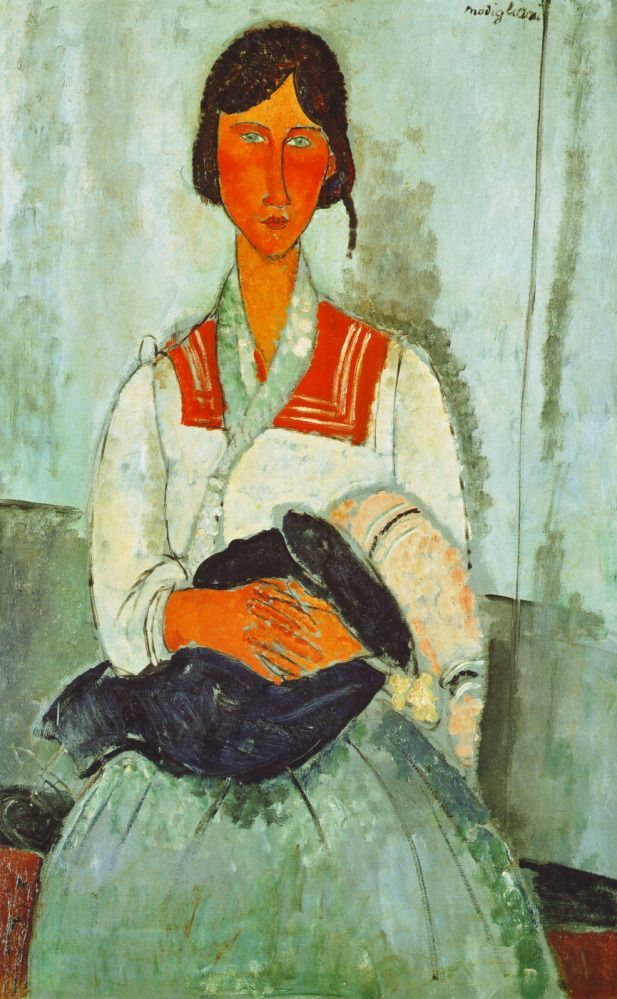 Gypsy Woman with Child by Amedeo Modigliani